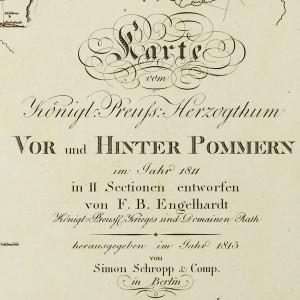 1813  Engelhardt Karte vom Koenigl. Preuss. Herzogthum Vor und Hinter Pommern
